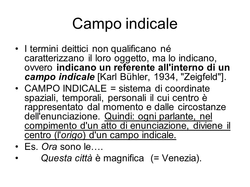 Campo indicale