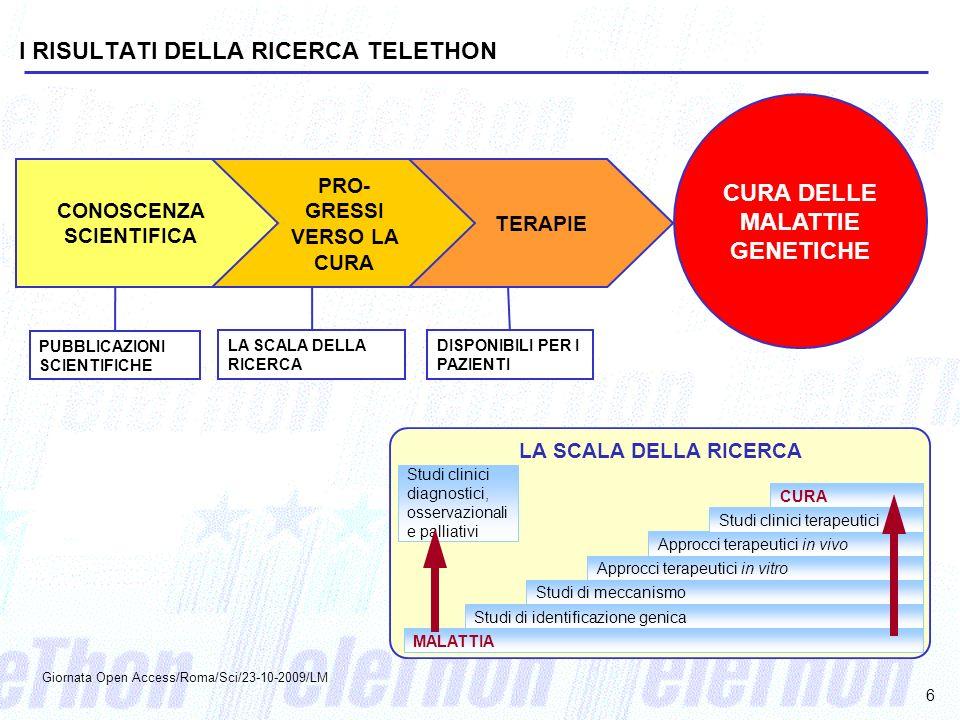 CURA DELLE MALATTIE GENETICHE CONOSCENZA SCIENTIFICA