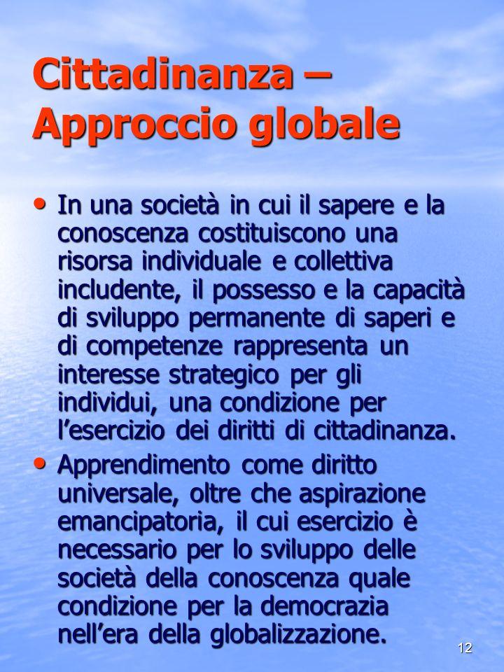 Cittadinanza – Approccio globale