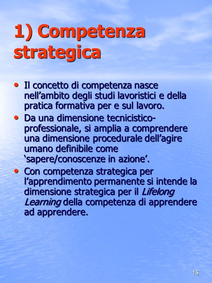 1) Competenza strategica
