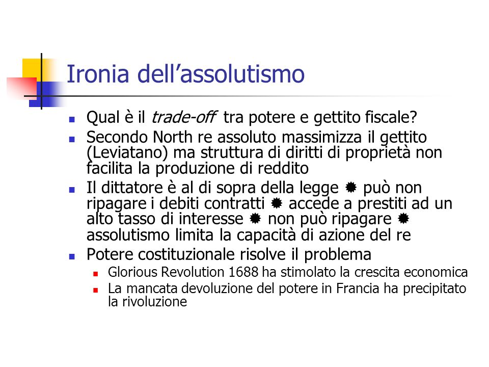 Ironia dell'assolutismo