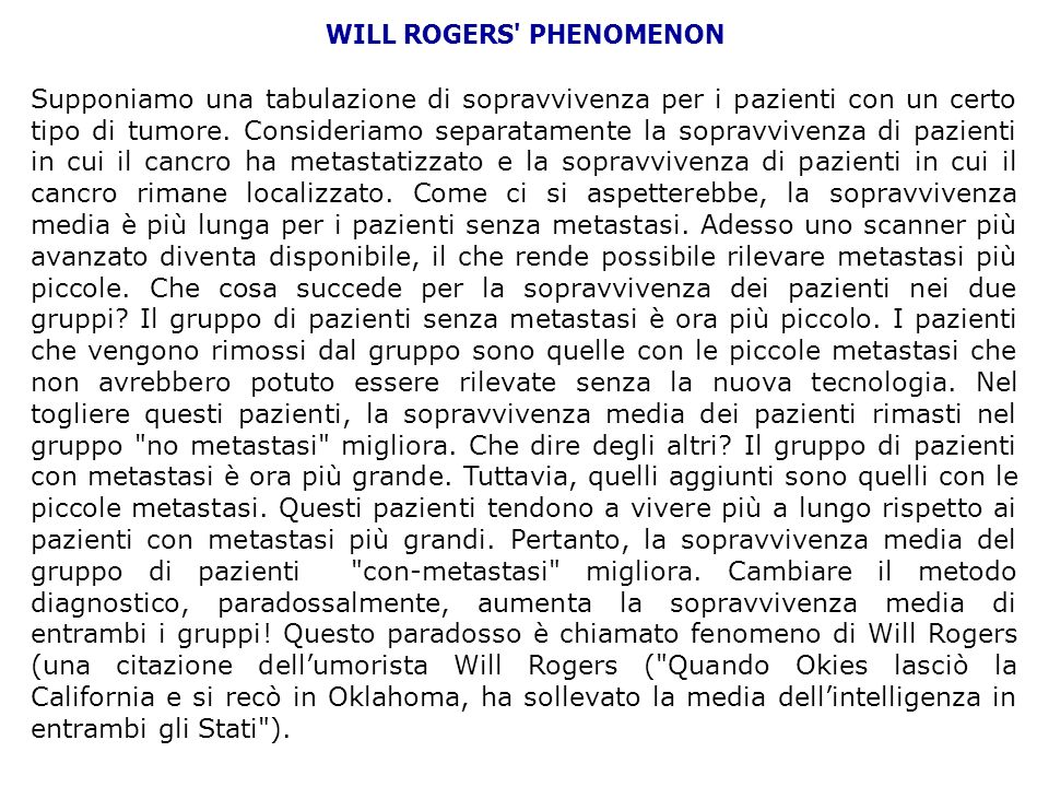 WILL ROGERS PHENOMENON