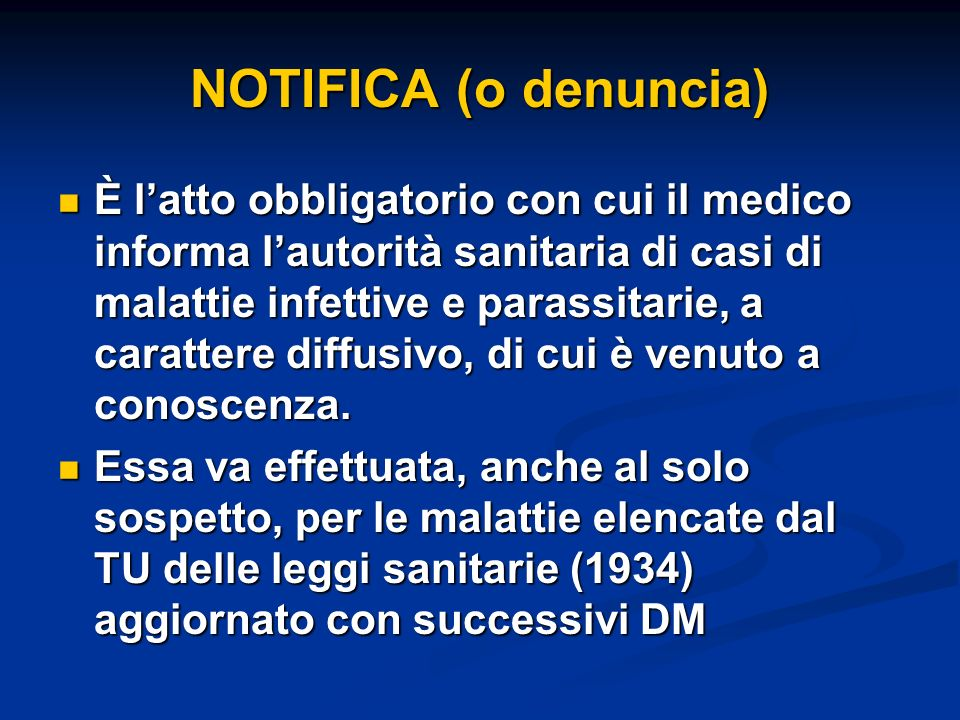 NOTIFICA (o denuncia)