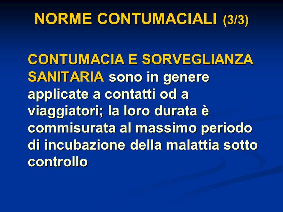 NORME CONTUMACIALI (3/3)