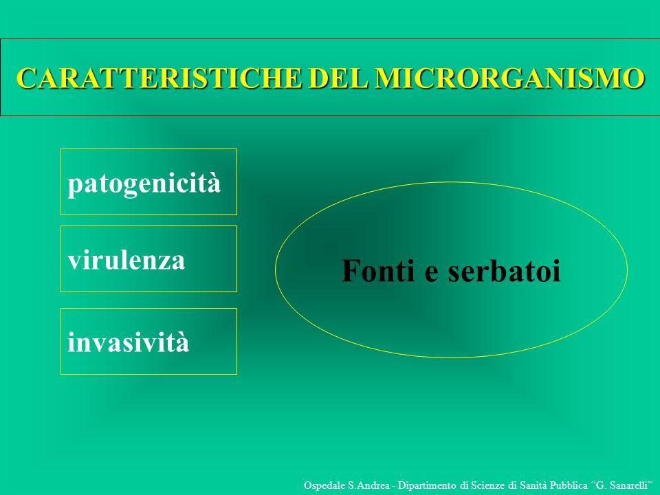 CARATTERISTICHE DEL MICRORGANISMO