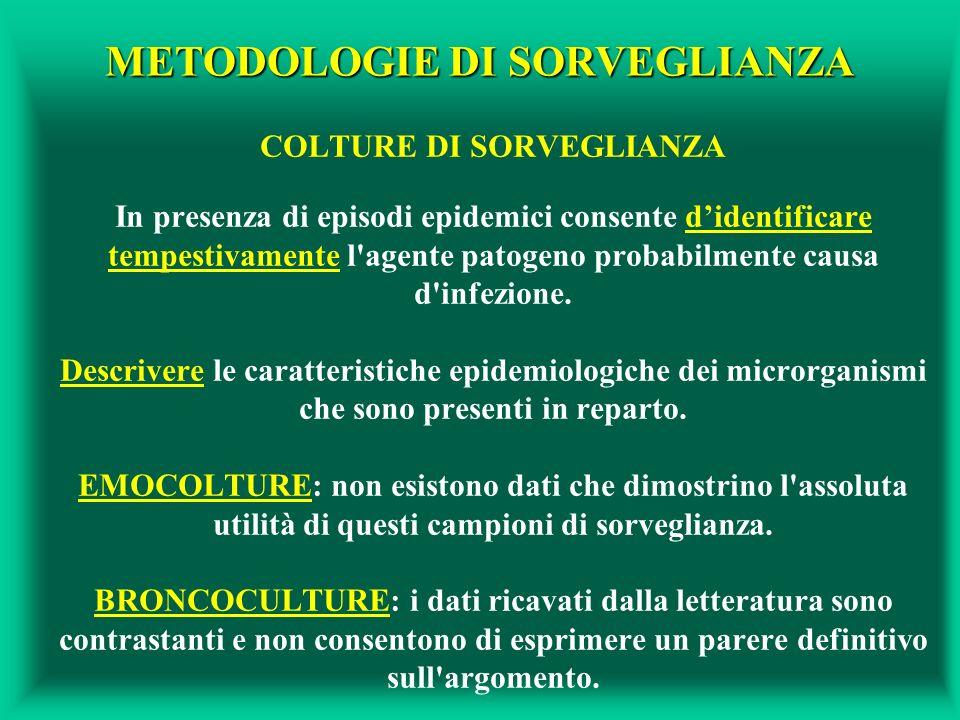 METODOLOGIE DI SORVEGLIANZA