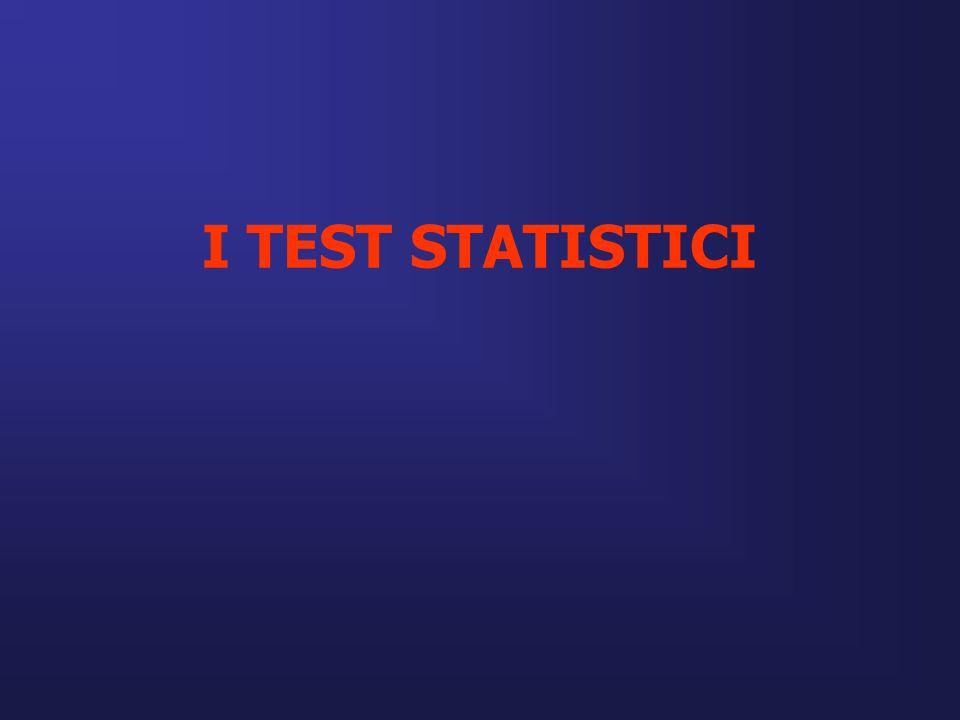 I TEST STATISTICI