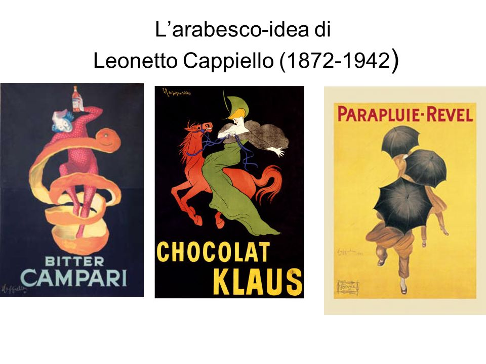 L'arabesco-idea di Leonetto Cappiello (1872-1942)