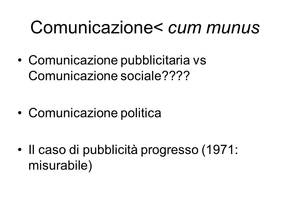 Comunicazione< cum munus