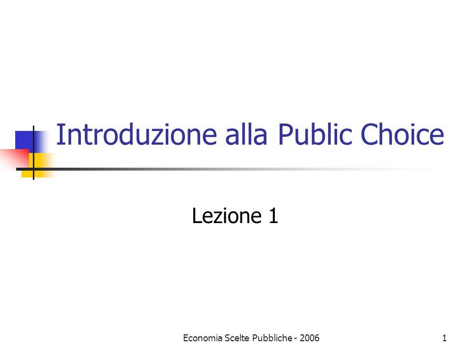 Introduzione alla Public Choice
