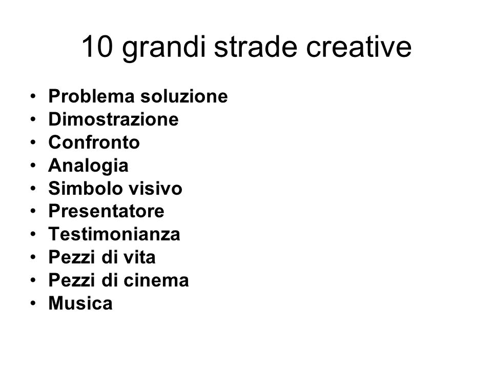 10 grandi strade creative