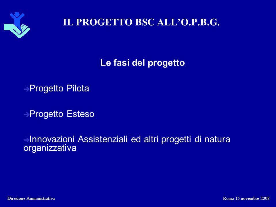 IL PROGETTO BSC ALL'O.P.B.G.
