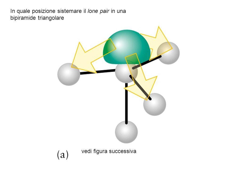 In quale posizione sistemare il lone pair in una bipiramide triangolare