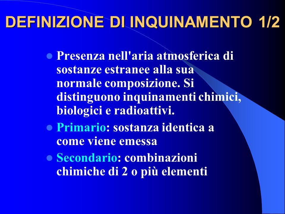 DEFINIZIONE DI INQUINAMENTO 1/2