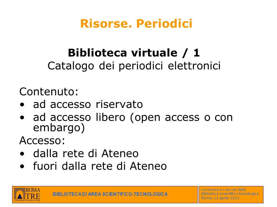 Catalogo dei periodici elettronici