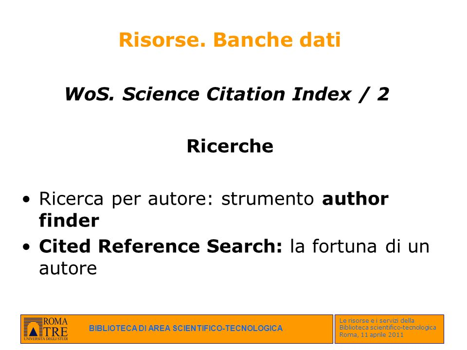 WoS. Science Citation Index / 2