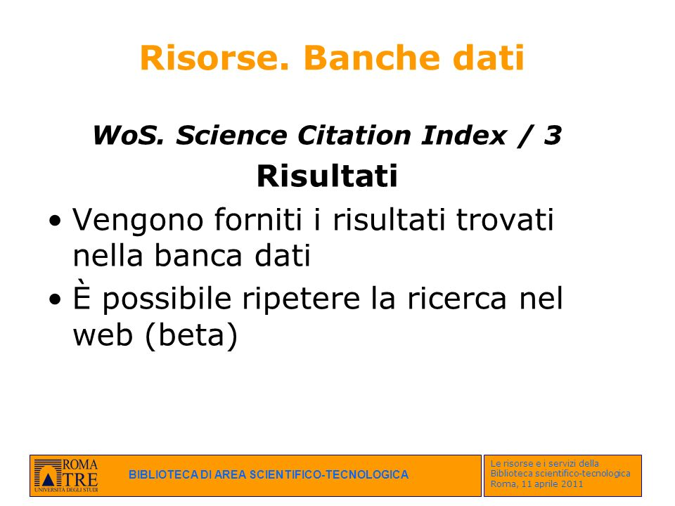 WoS. Science Citation Index / 3