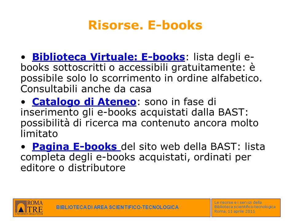Risorse. E-books