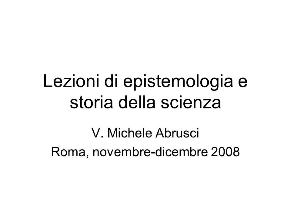 Lezioni di epistemologia e storia della scienza