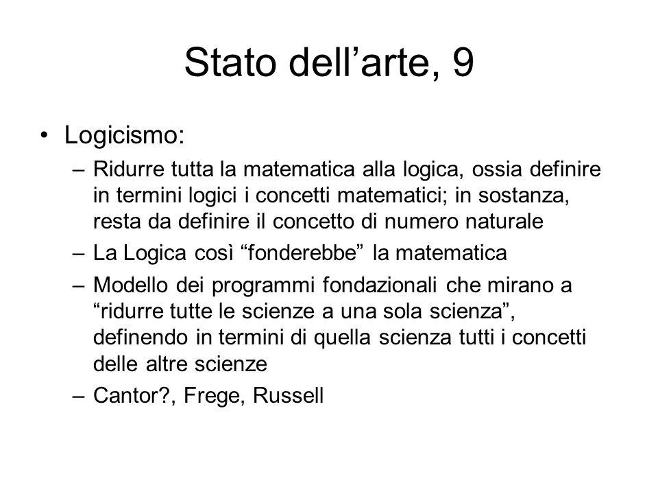 Stato dell'arte, 9 Logicismo: