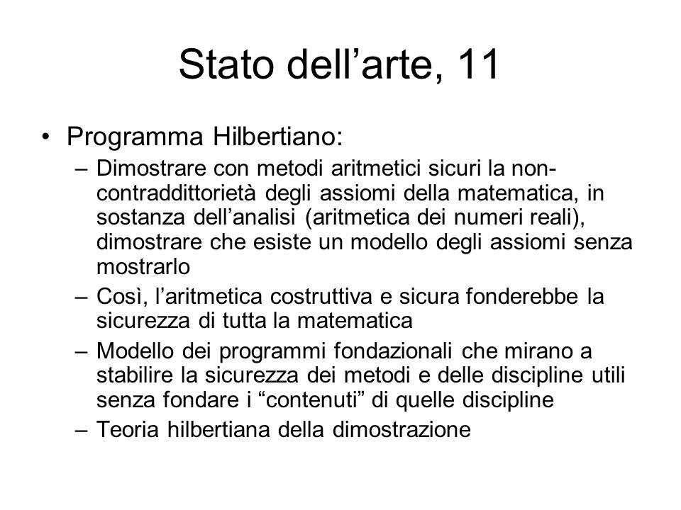 Stato dell'arte, 11 Programma Hilbertiano: