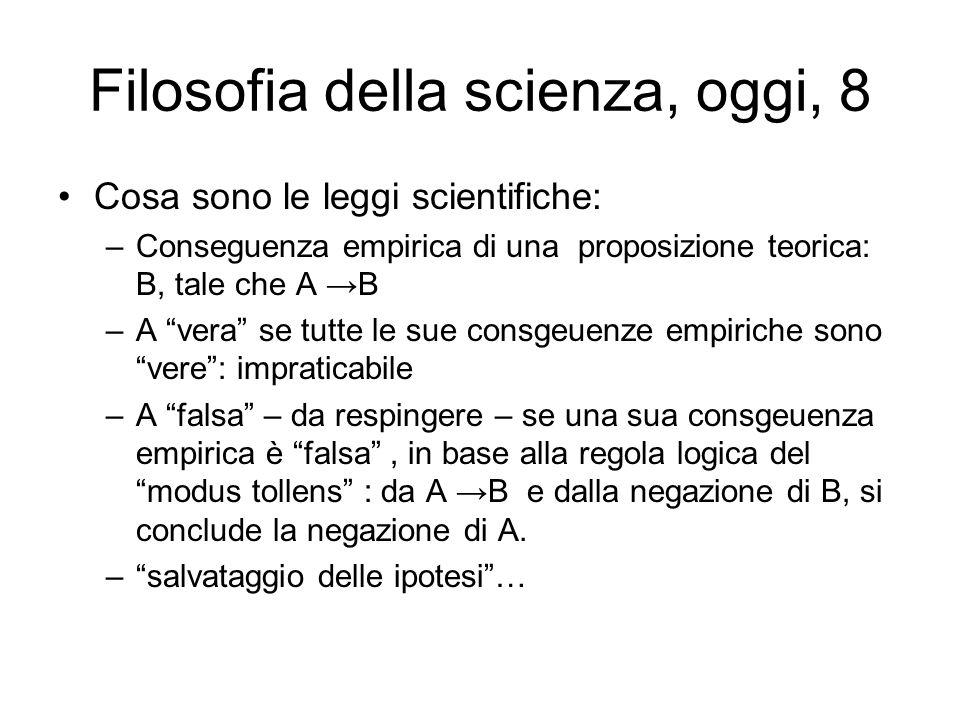 Filosofia della scienza, oggi, 8