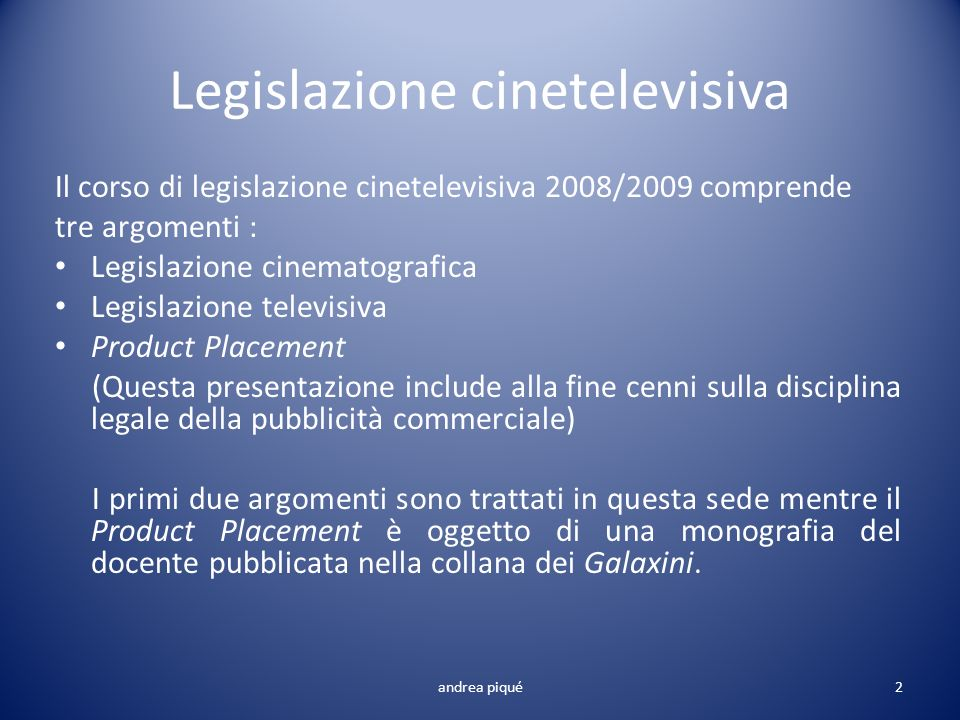Legislazione cinetelevisiva
