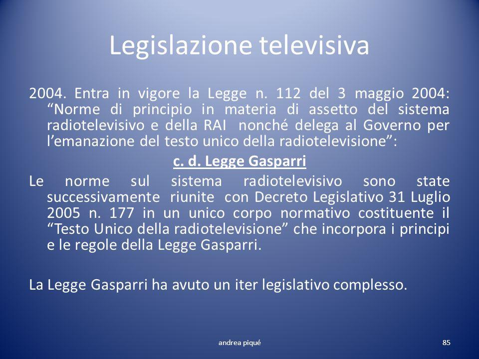 Legislazione televisiva