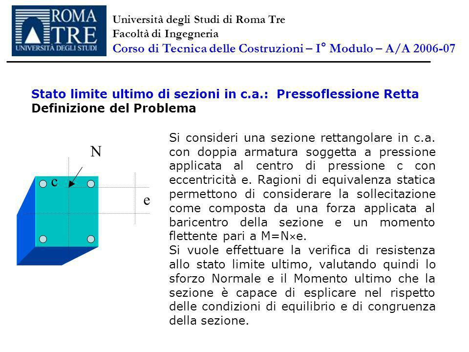 N c e Corso di Tecnica delle Costruzioni – I° Modulo – A/A 2006-07