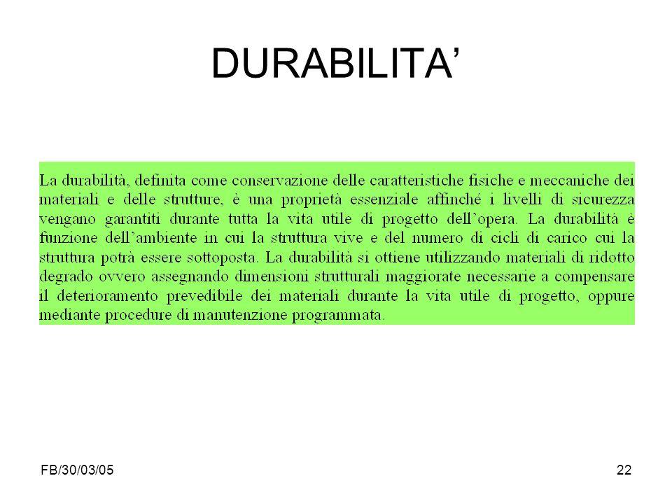 DURABILITA' FB/30/03/05