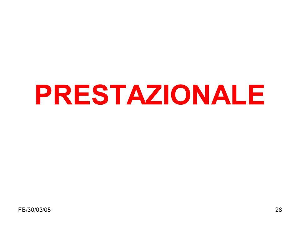 PRESTAZIONALE FB/30/03/05