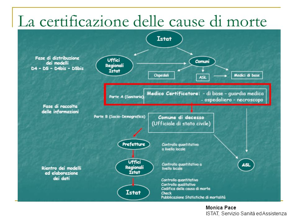 La certificazione delle cause di morte