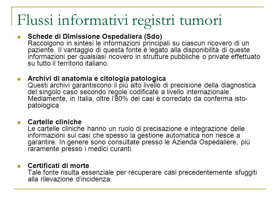 Flussi informativi registri tumori