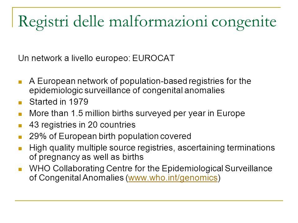 Registri delle malformazioni congenite