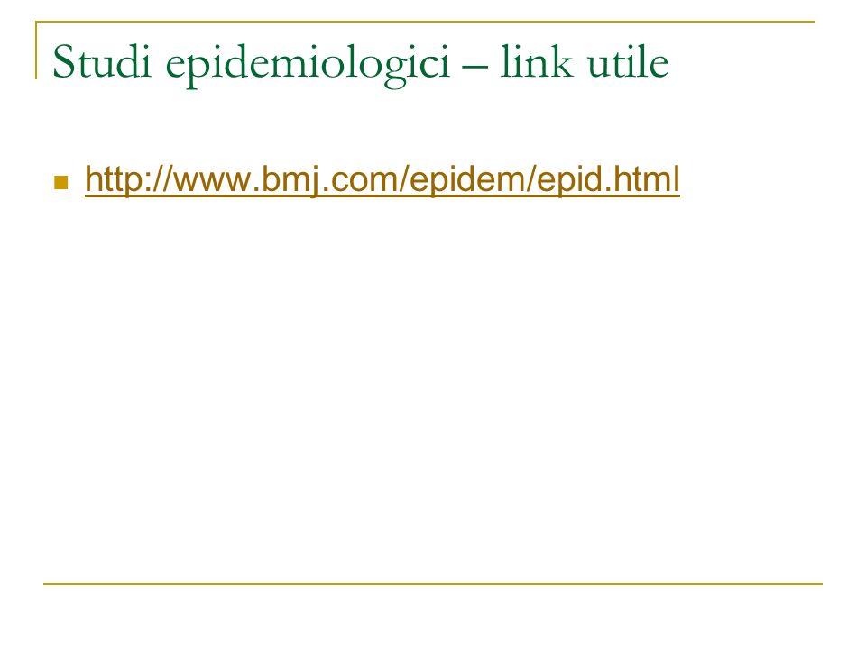 Studi epidemiologici – link utile