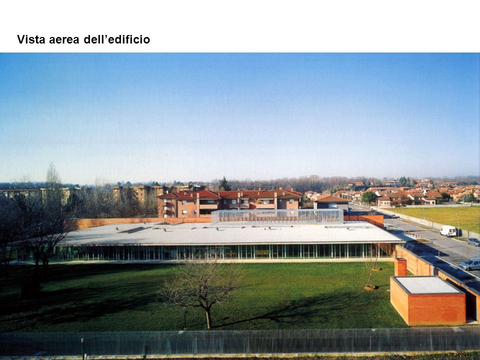 Vista aerea dell'edificio