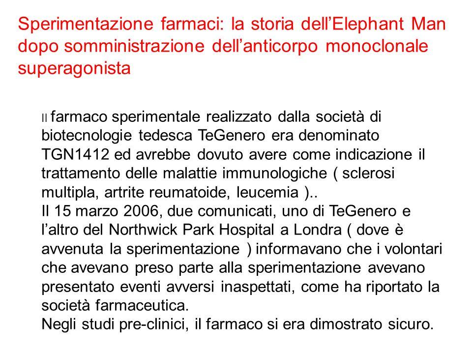 Sperimentazione farmaci: la storia dell'Elephant Man dopo somministrazione dell'anticorpo monoclonale superagonista
