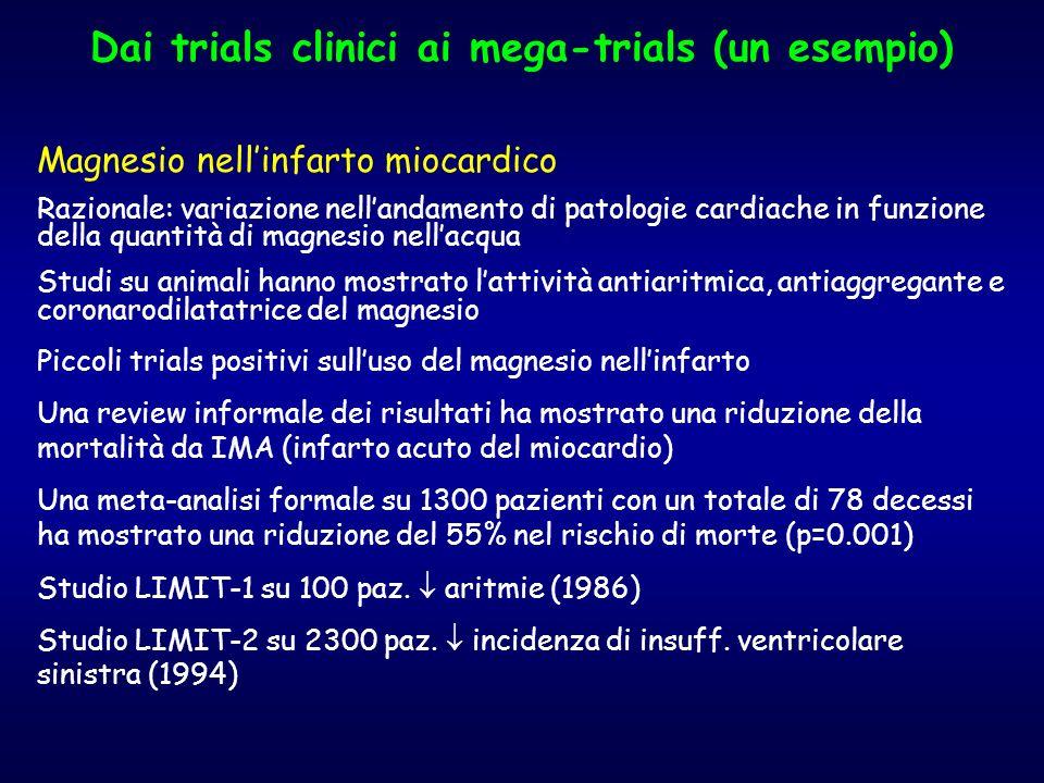 Dai trials clinici ai mega-trials (un esempio)