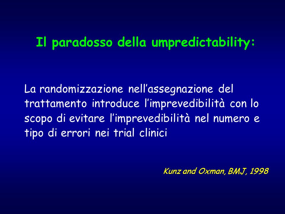 Il paradosso della umpredictability: