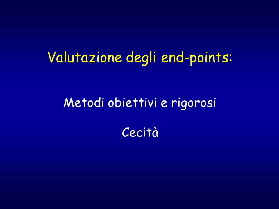 Valutazione degli end-points: