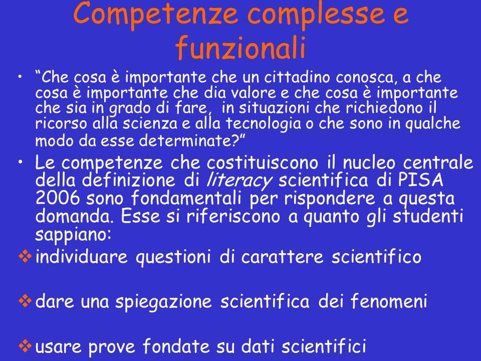 Competenze complesse e funzionali