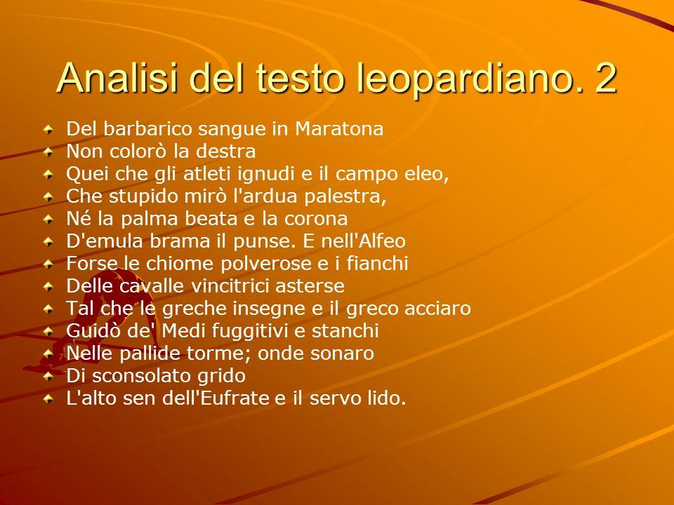 Analisi del testo leopardiano. 2