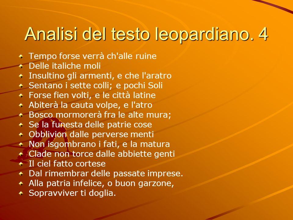 Analisi del testo leopardiano. 4