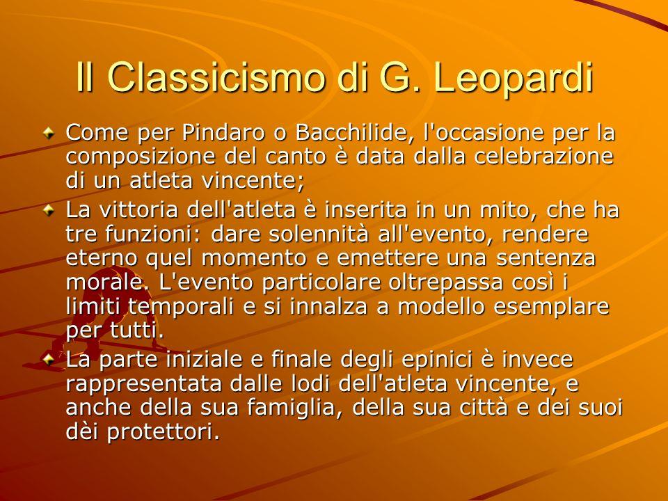Il Classicismo di G. Leopardi