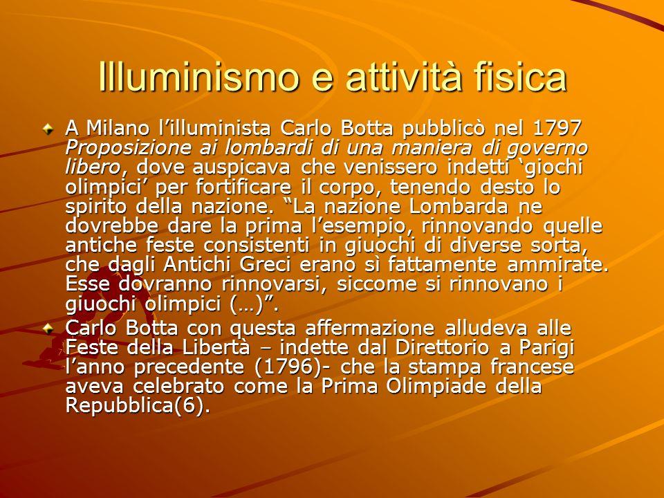 Illuminismo e attività fisica