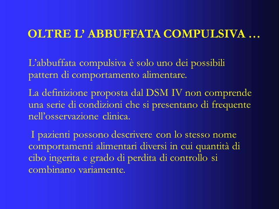 OLTRE L' ABBUFFATA COMPULSIVA …