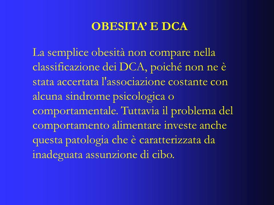 OBESITA' E DCA