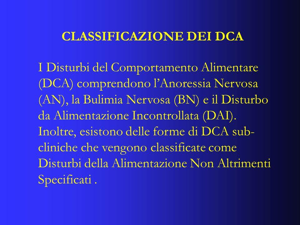 CLASSIFICAZIONE DEI DCA