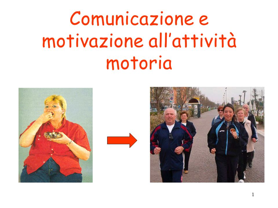 Comunicazione e motivazione all'attività motoria