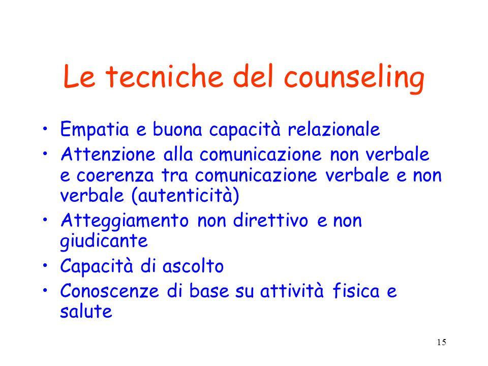 Le tecniche del counseling